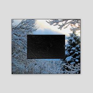 Colorado Snowy Winter Scene Picture Frame