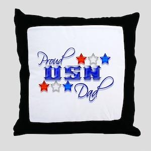 USN Star Dad Throw Pillow