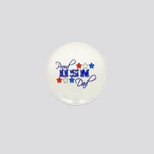 USN Star Dad Mini Button