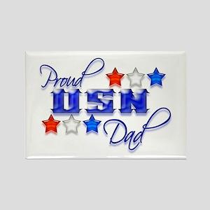 USN Star Dad Rectangle Magnet