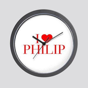 I love PHILIP-Bau red 500 Wall Clock
