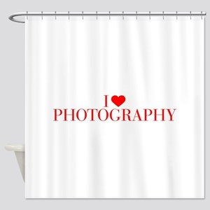 I love Photography-Bau red 500 Shower Curtain