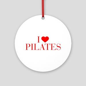 I love Pilates-Bau red 500 Ornament (Round)