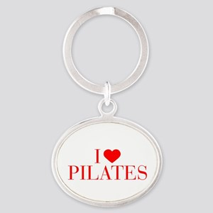 I love Pilates-Bau red 500 Keychains