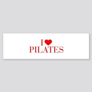 I love Pilates-Bau red 500 Bumper Sticker