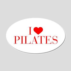 I love Pilates-Bau red 500 Wall Decal