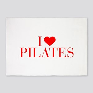 I love Pilates-Bau red 500 5'x7'Area Rug