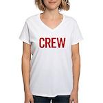 Crew (red) Women's V-Neck T-Shirt