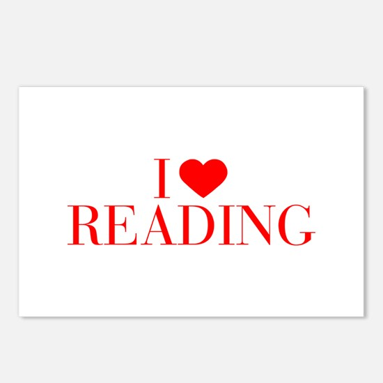 I love Reading-Bau red 500 Postcards (Package of 8