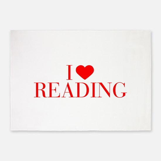 I love Reading-Bau red 500 5'x7'Area Rug