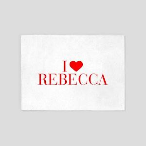 I love REBECCA-Bau red 500 5'x7'Area Rug