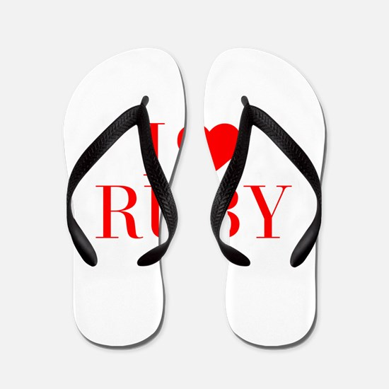 I love RUBY-Bau red 500 Flip Flops