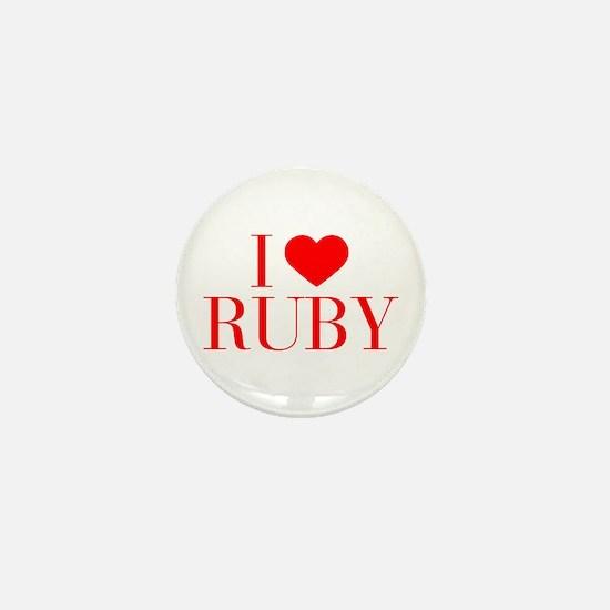I love RUBY-Bau red 500 Mini Button