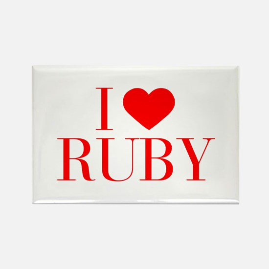 I love RUBY-Bau red 500 Magnets