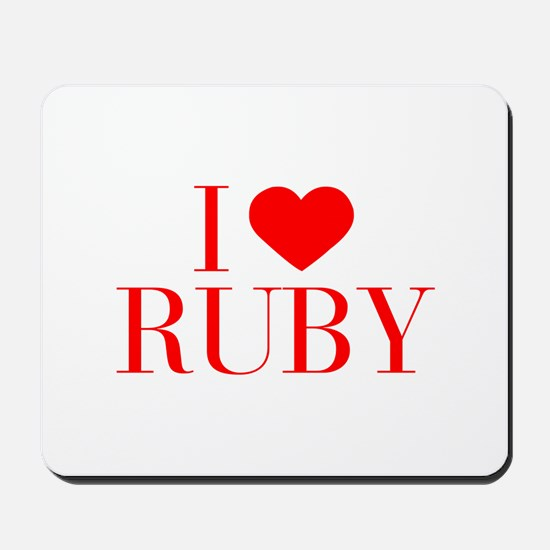 I love RUBY-Bau red 500 Mousepad