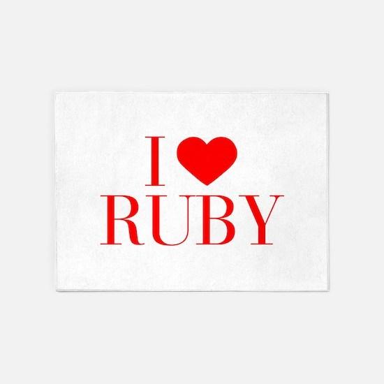 I love RUBY-Bau red 500 5'x7'Area Rug