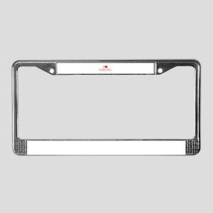 I love Sailing-Bau red 500 License Plate Frame
