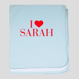 I love SARAH-Bau red 500 baby blanket