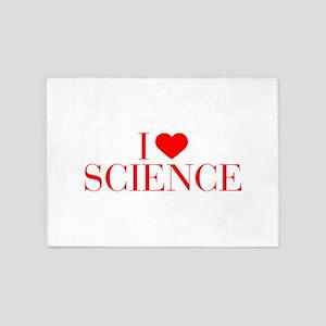 I love Science-Bau red 500 5'x7'Area Rug