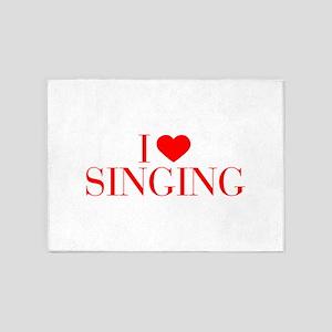 I love Singing-Bau red 500 5'x7'Area Rug