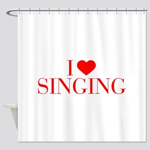 I love Singing-Bau red 500 Shower Curtain