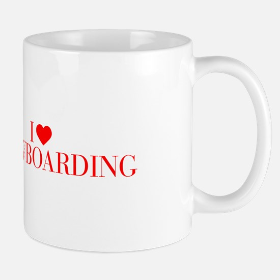 I love Snowboarding-Bau red 500 Mugs