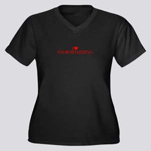 I love Snowboarding-Bau red 500 Plus Size T-Shirt