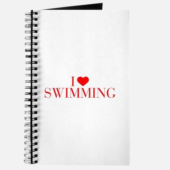 I love Swimming-Bau red 500 Journal
