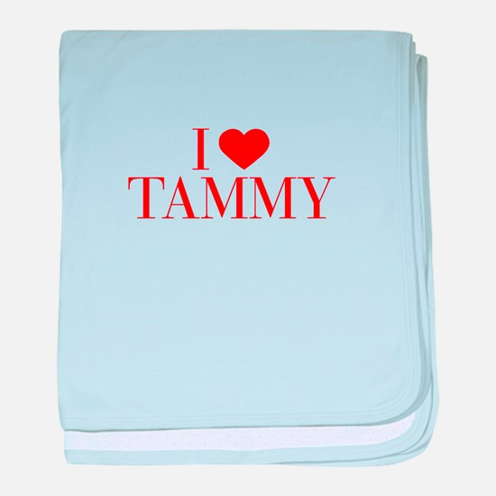 I love TAMMY-Bau red 500 baby blanket