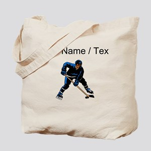 Custom Hockey Player Tote Bag