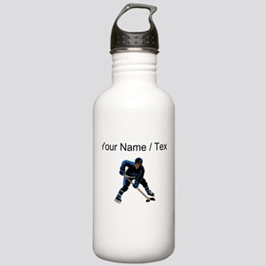 Custom Hockey Player Water Bottle