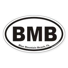 Blue Mountain Beach BMB Euro Oval Decal