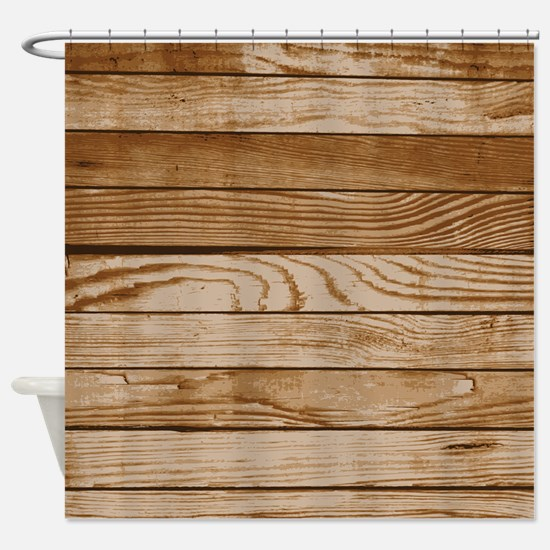 wooden texture Shower Curtain