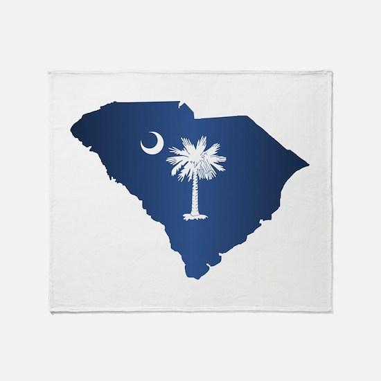 South Carolina (geo) Throw Blanket