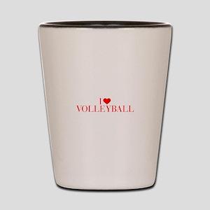 I love Volleyball-Bau red 500 Shot Glass