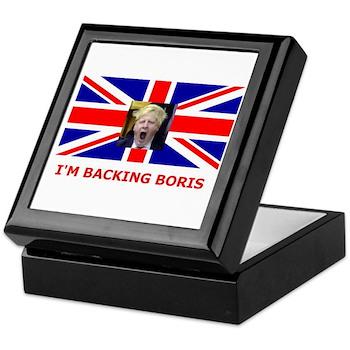 I'M BACKING BORIS Keepsake Box