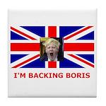 I'M BACKING BORIS Tile Coaster