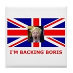 I'M BACKING BORIS Tile Coaster