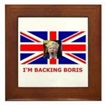 I'M BACKING BORIS Framed Tile