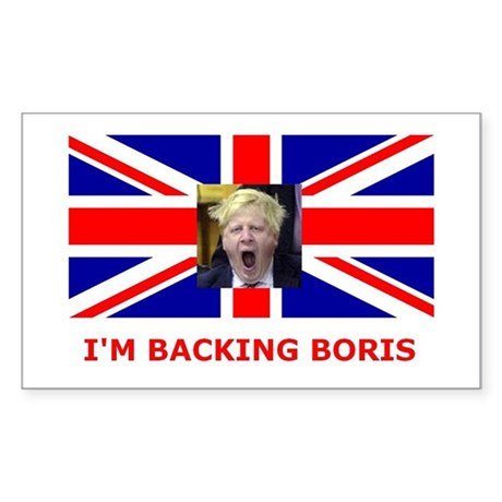 I'M BACKING BORIS Rectangle Sticker