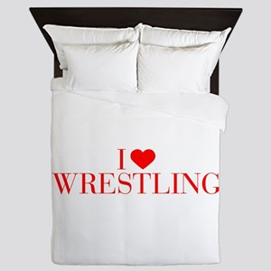 I love Wrestling-Bau red 500 Queen Duvet