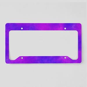 Purple License Plate Holder