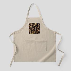 vintage floral gold Apron