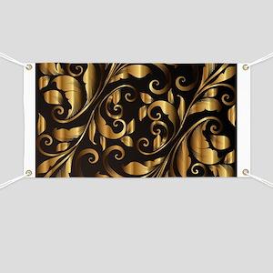 vintage floral gold Banner