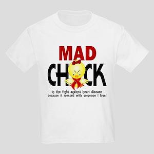 Heart Disease Mad Chick 1 Kids Light T-Shirt