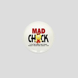 Heart Disease Mad Chick 1 Mini Button
