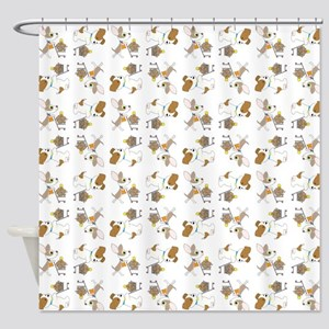 SHOPPING DOGS Shower Curtain