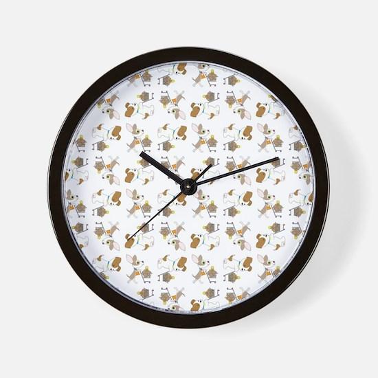 SHOPPING DOGS Wall Clock