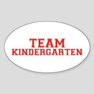 Team Kindergarten Oval Sticker