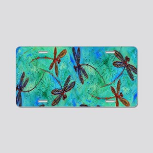Dragonfly Dance Aluminum License Plate